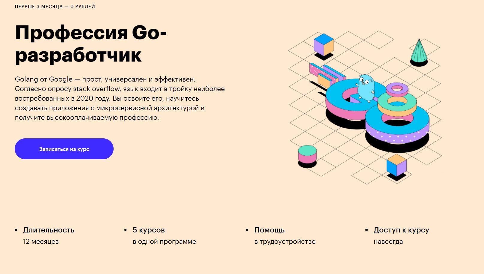 профессия Go-разработчик